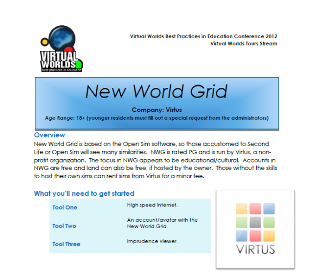New World Grid Guide front page image